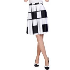 Black And White Pattern A Line Skirt