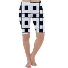 Black And White Pattern Cropped Leggings