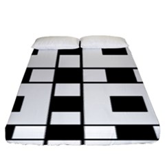 Black And White Pattern Fitted Sheet (king Size)