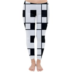 Black And White Pattern Classic Winter Leggings