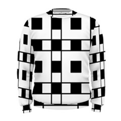 Black And White Pattern Men s Sweatshirt