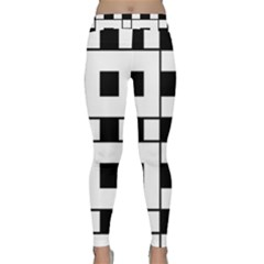 Black And White Pattern Classic Yoga Leggings