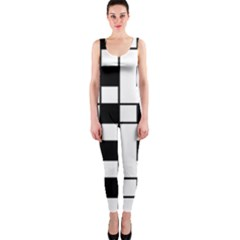 Black And White Pattern Onepiece Catsuit