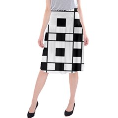 Black And White Pattern Midi Beach Skirt