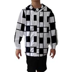 Black And White Pattern Hooded Wind Breaker (kids)