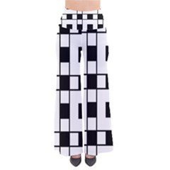 Black And White Pattern Pants