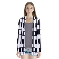 Black And White Pattern Cardigans