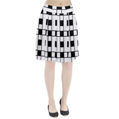 Black And White Pattern Pleated Skirt