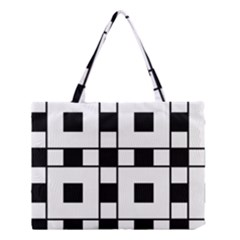 Black And White Pattern Medium Tote Bag