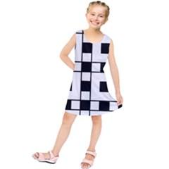 Black And White Pattern Kids  Tunic Dress