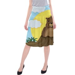 Groundhog day  Midi Beach Skirt