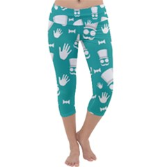 Gentleman pattern Capri Yoga Leggings