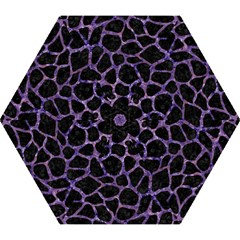 Skin1 Black Marble & Purple Marble (r) Mini Folding Umbrella