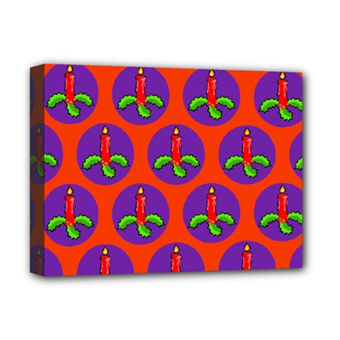 Christmas Candles Seamless Pattern Deluxe Canvas 16  X 12