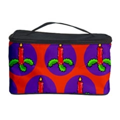 Christmas Candles Seamless Pattern Cosmetic Storage Case