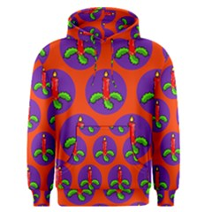 Christmas Candles Seamless Pattern Men s Pullover Hoodie