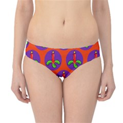 Christmas Candles Seamless Pattern Hipster Bikini Bottoms