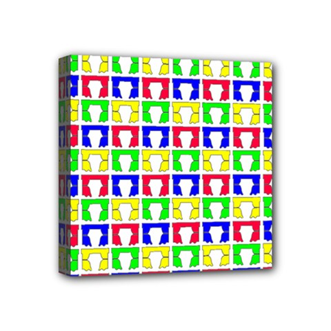 Colorful Curtains Seamless Pattern Mini Canvas 4  X 4
