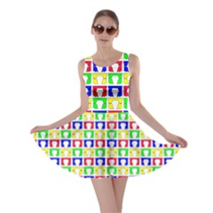 Colorful Curtains Seamless Pattern Skater Dress