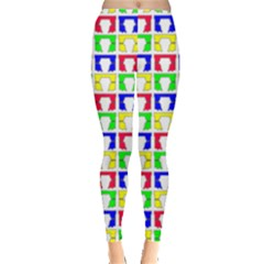 Colorful Curtains Seamless Pattern Leggings