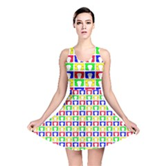 Colorful Curtains Seamless Pattern Reversible Skater Dress