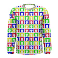 Colorful Curtains Seamless Pattern Men s Long Sleeve Tee