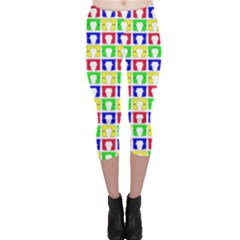 Colorful Curtains Seamless Pattern Capri Leggings