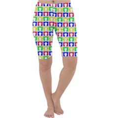Colorful Curtains Seamless Pattern Cropped Leggings