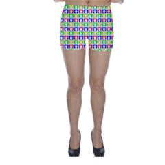Colorful Curtains Seamless Pattern Skinny Shorts