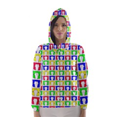 Colorful Curtains Seamless Pattern Hooded Wind Breaker (women)
