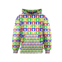 Colorful Curtains Seamless Pattern Kids  Pullover Hoodie