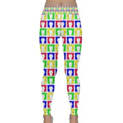 Colorful Curtains Seamless Pattern Classic Yoga Leggings