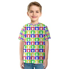 Colorful Curtains Seamless Pattern Kids  Sport Mesh Tee