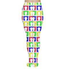 Colorful Curtains Seamless Pattern Women s Tights