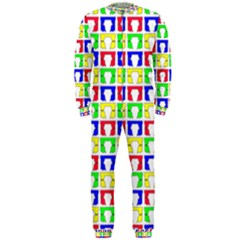 Colorful Curtains Seamless Pattern Onepiece Jumpsuit (men)