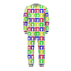 Colorful Curtains Seamless Pattern Onepiece Jumpsuit (kids)