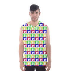Colorful Curtains Seamless Pattern Men s Basketball Tank Top