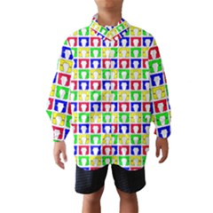 Colorful Curtains Seamless Pattern Wind Breaker (kids)