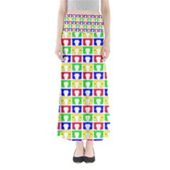 Colorful Curtains Seamless Pattern Maxi Skirts