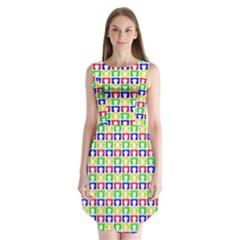 Colorful Curtains Seamless Pattern Sleeveless Chiffon Dress