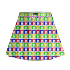 Colorful Curtains Seamless Pattern Mini Flare Skirt