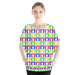 Colorful Curtains Seamless Pattern Blouse