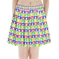 Colorful Curtains Seamless Pattern Pleated Mini Skirt