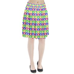 Colorful Curtains Seamless Pattern Pleated Skirt