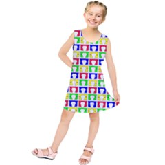 Colorful Curtains Seamless Pattern Kids  Tunic Dress
