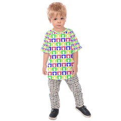 Colorful Curtains Seamless Pattern Kids  Raglan Tee