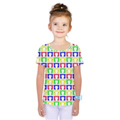 Colorful Curtains Seamless Pattern Kids  One Piece Tee