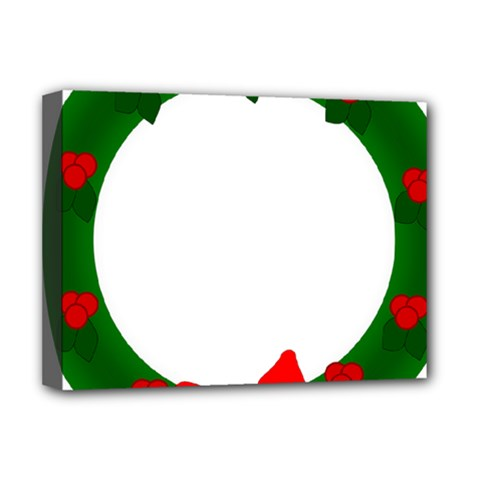 Holiday Wreath Deluxe Canvas 16  X 12