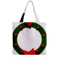 Holiday Wreath Grocery Tote Bag