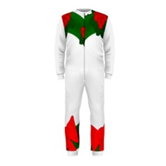 Holiday Wreath Onepiece Jumpsuit (kids)